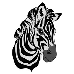 Zebra Head embroidery design