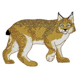 Canadian Lynx embroidery design