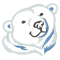 Polar Bear Head embroidery design