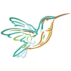 Hummingbird Outline embroidery design