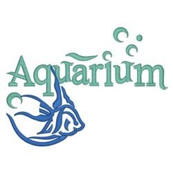 Small Aquarium Logo embroidery design