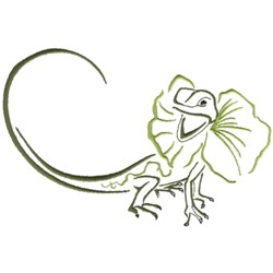 Frilled Lizard embroidery design