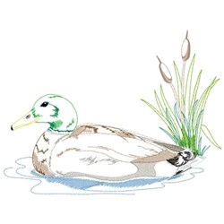 Mallard Scene embroidery design
