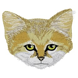 Sand Cat Head embroidery design