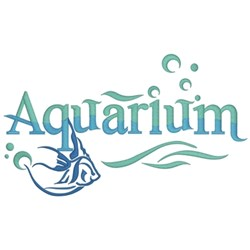 Aquarium Logo embroidery design