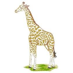 Standing Giraffe embroidery design