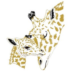 Giraffe Mom And Baby embroidery design