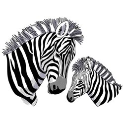 Momma & Baby Zebra embroidery design