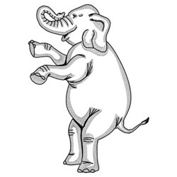 Rearing Elephant embroidery design