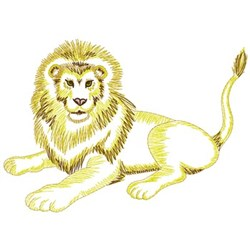 Lazing Lion embroidery design