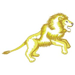 Lion Running embroidery design