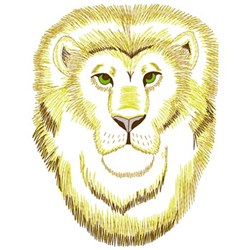 Lion Face embroidery design