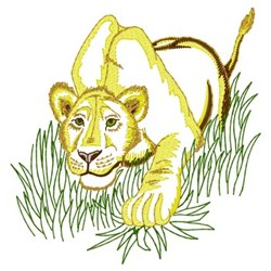 Lioness Hunt embroidery design