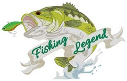 Fishing Legend embroidery design