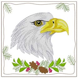 Eagle Quilt Square embroidery design