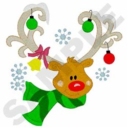 Reindeer With Fringe embroidery design