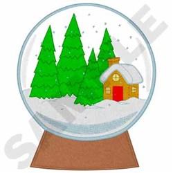 Snow Globe embroidery design
