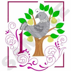 Partridge Pear Tree embroidery design