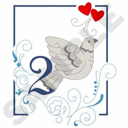 Turle Doves embroidery design