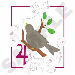 4 Calling  Birds embroidery design