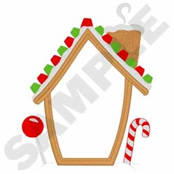 Gingerbread House Applique embroidery design