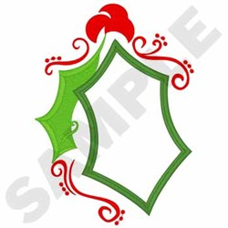 Holly Leaves Applique embroidery design