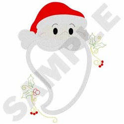 Santa Applique embroidery design