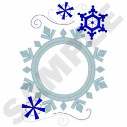 Snowflakes Applique embroidery design