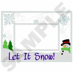 Snowman Frame Applique embroidery design
