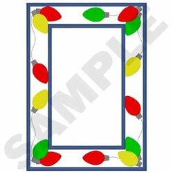 Lights Frame Applique embroidery design