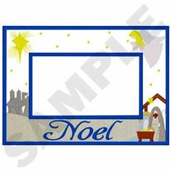 Noel Frame Applique embroidery design