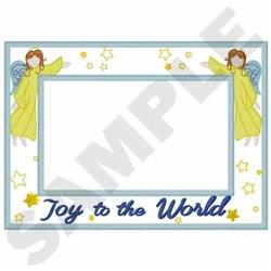 Angels Frame Applique embroidery design