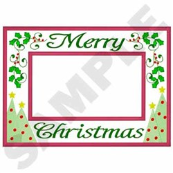 Merry Christmas Applique embroidery design