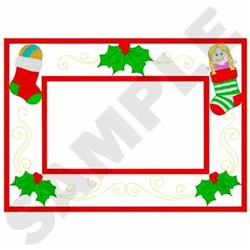 Stocking Frame Applique embroidery design