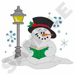 Caroling Snowman embroidery design