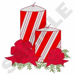 Candy Cane Candle embroidery design