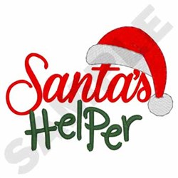 Santas Helper embroidery design