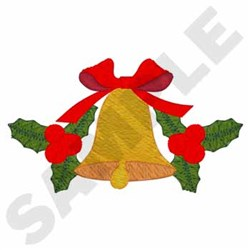 Bell with Holly embroidery design
