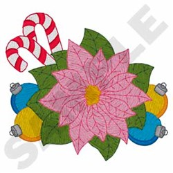 Pink Poinsettia embroidery design