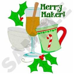 Christmas Drinks embroidery design
