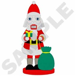 Santa Nutcracker embroidery design