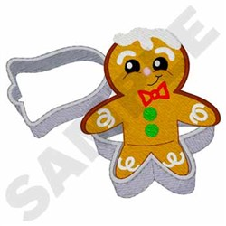 Gingerbread Man embroidery design