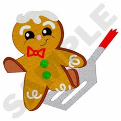 Gingerbread Man Running embroidery design