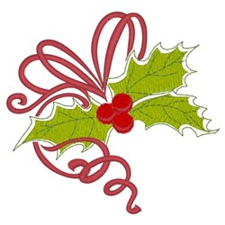 Christmas Holly embroidery design