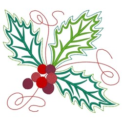 Holly Bough embroidery design