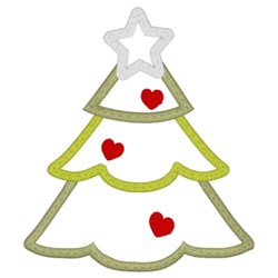 Christmas Tree Applique embroidery design