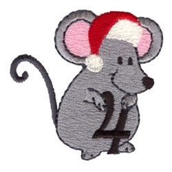 Christmas Mouse 4 embroidery design