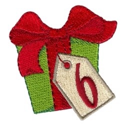 Christmas Gift 6 embroidery design