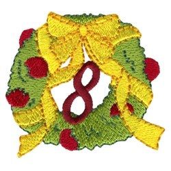 Christmas Wreath - 8 embroidery design