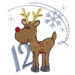 Christmas Reindeer 12 embroidery design